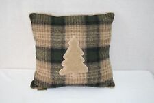 John Rich and Bros Woolrich  Square Pillow, 18 by 18-Inch, Plaid with Tree