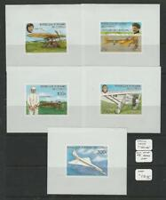 Congo, Postage Stamp, #421-425 Proof Mint NH, 1977 Airplane, JFZ