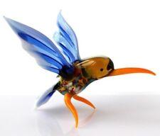 """Hummingbird hand blown glass """"murano"""" style figurine"""
