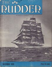 The Rudder December 1939 Streamlined Boat Building, Ocean Racer 052617nonDBE
