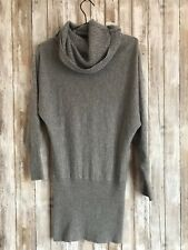 Buffalo David Bitton Angora Blend Grey Sweater Drape Dolman Dress S Small