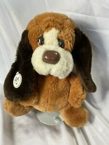 "Vintage Puppet Russ Baxter Bashful Basset Hound Dog Plush 10"" Animal Ear Tag"