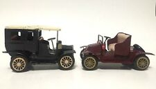Lot of 2 Vintage & Antique Model-T TOY TIN METAL FRICTION CARS Made in Japan