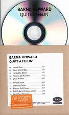 BARNA HOWARD Quite A Feelin 2015 UK 10-trk promo test CD