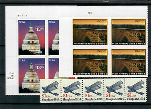 US $79.40 FACE MINT / NH LOT of HIGH DENOMINATION STAMPS, $1.00, $4.95 & $13.65!
