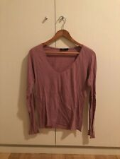 Bassike Jersey V Neck Long Sleeve TShirt Size Small