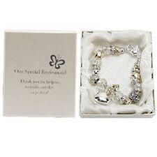 Amore Silver Gold Bead Charm Bracelet Bridesmaid wedding