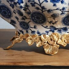 Chinoiserie Blue and white Chinese Porcelain fruit tray bowl