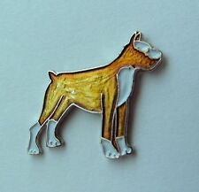 NICE QUALITY BOXER DOG LAPEL PIN BADGE 3/4 INCH