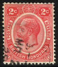 SG 128 BRITISH HONDURAS 1926 - 2c ROSE-CARMINE - USED