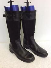 START -RITE BLACK SUEDE & LEATHER CALF LENGTH BOOTS SIZE 4.5/ 37.5