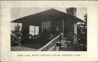 East Northfield MA Bird Cage Main Cottage Louise Andrews Camp Postcard