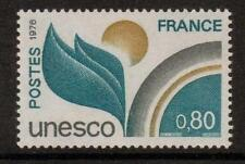 La Francia sgu16 1976 UNESCO 80c Gomma integra, non linguellato