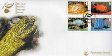 Ascension Island 2013 FDC Shallow Marine Surveys Group 4v Set Cover Fish Tang