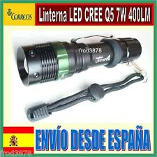 LINTERNA TÁCTICA LED CREE Q5 7W 400LM con zoom