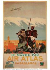 AFFICHE ANCIENNE DU MAROC, repro,   cheval, Casablanca