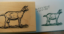 Goat rubber stamp wood mounted P46