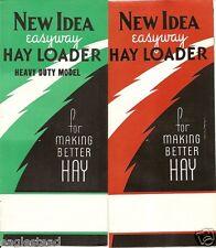 Farm Equipment Brochure - New Idea - 16 Brochure Set 1945 w Cover Letter (F1053)
