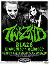 TWIZTID / BLAZE / MADCHILD / AQUALEO 2013 SEATTLE CONCERT TOUR POSTER - Hip Hop