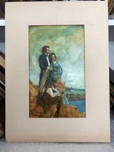"OIL ILLUSTRATION STUDY ""THE KING'S ORCHARD"" BY STUART KAUFMAN 1926-2008"