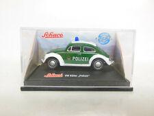 weiß Schuco Modellauto 1:72 VW Käfer Polizei Dachnummer 62 grün