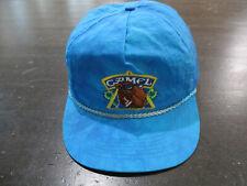 VINTAGE Camel Hat Cap Blue Yellow Cigarette Joe Camel Snap Back Adjustable 90s