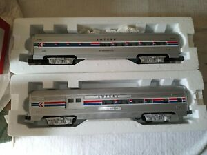 Williams o scale Amtrak aluminum passenger cars