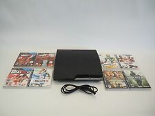 SONY 160GB PlayStation 3 GAME CONSOLE CECH-2501A + 8 GAMES