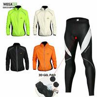 Men Cycling Jacket Pants Set Riding Long sleeve Bicycle MTB Bike Jersey Trousers