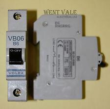 Volex VB Range - VB06 - 6a Type B Single Pole MCB Used