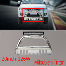 Mitsubishi Triton Nudge Bar Stainless Steel Grille Guard 09-15+126w Led Light