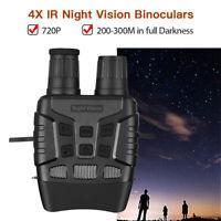 "2.3"" 720P IR Night Vision Binoculars Fliter Cover 300M in Full Darkness FOV 10°"