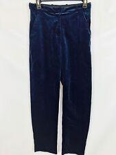Topshop Women's Suede Navy Blue Pants - Size 4