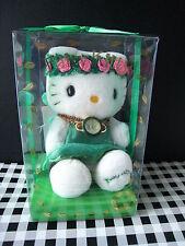 "2000 Sanrio Japan Auth green FAIRY Hello Kitty angel Doll Plush 8"" watch"