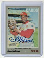 Bob Gibson 2019 Topps Heritage Real One Autograph Card #ROA-BG (STL. Cardinals)