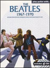 Jugar Guitarra Con Los Beatles 1967-1970 Tab Libro & 4 reproducir CD-a lo largo de