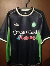 VINTAGE Maillot de football UMBRO Saint St Etienne Vert DREAMCAST jersey AWAY
