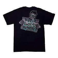 Gothic Horror Punk Psychobilly Goth Zombie Kreepsville 666 Mens Black T Shirt M
