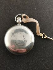 VINTAGE 18 SIZE BURLINGTON HUNTING POCKET WATCH 3OZ COIN SILVER CASE