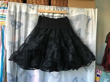 Black Tutu Ruffle Vintage Sams Adjustable Skirt