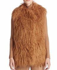 Stella McCartney Tan Faux Mongolian Fur Vest Small 40 NWT
