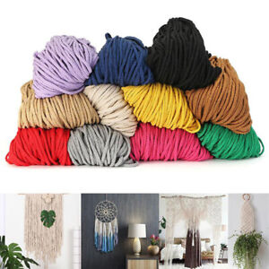 5mm Cotton Macrame Cord Twisted Rope Thread DIY Craft Woven String Decoration