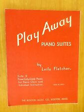 Vintage    2  Books  of  Music  Sheets  Play Away and Song of the Bell
