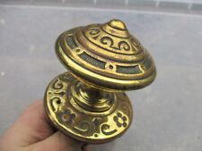 Victorian Brass Centre Door Knob Handle Pull Architectural Antique Old Vintage