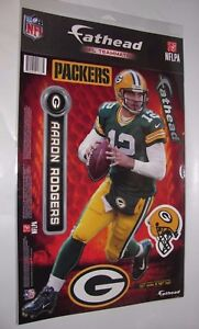 """Fathead NFL Teammates Aaron Rodgers Packers Wall Room Decals New 10"""" x 16"""""""