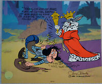 CHUCK JONES SIR LOIN OF BEEF ANIMATION CEL SIGNED/# W/COA #335/500