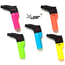 Xuper (Pack of 5) Jet Butane Torch Lighter with Safety Lock and Adjustable Flame