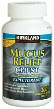 Kirkland Mucus Relief Guaifenesin 400mg Chest Expectorant 200 Tablet Exp 04/23
