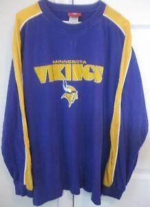 NFL Minnesota Vikings Long Sleeve Shirt Size Large