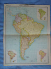 Job Lot Vintage1922 South America Maps x 4 Times Atlas Argentina Chile Brazil
